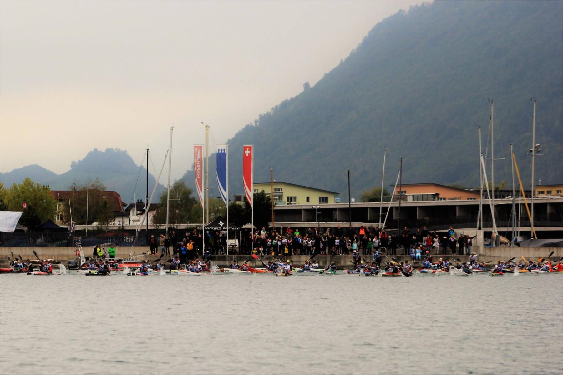 Start Kanu-Marathon 2018 in Buochs